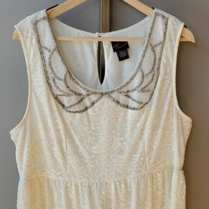 torrid Dresses - Torrid Ivory Lace Babydoll Dress